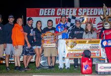 Rodney Sanders in victory lane. (USMTS photo)