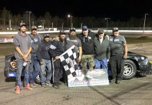 Ryan Richard won the 75-lap street stock main event on Friday night at Petty Int'l Raceway.