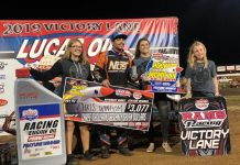 Chris Windom in victory lane. (Kenny Shaw photo)
