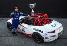 Bryan Ortiz captured the Battery Tender Global Mazda MX-5 Cup championship Saturday at WeatherTech Raceway Laguna Seca.