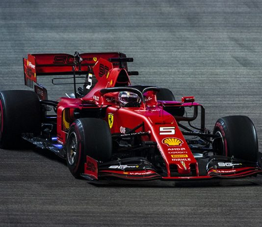 Sebastian Vettel earned his first Grand Prix win of the season Sunday in Singapore. (Ferrari Photo)