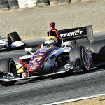 Rinus VeeKay raced to his second-straight Indy Lights win Sunday at WeatherTech Raceway Laguna Seca. (Al Steinberg Photo)