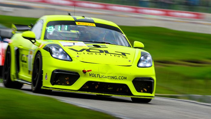 The Park Place Motorsports duo of Trent Hindman and Alan Byrnjolfsson raced to victory in SprintX competition Sunday at Road America.