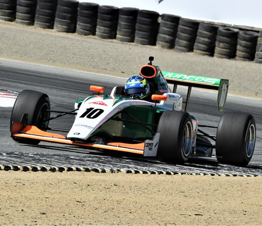 Rasmus Lindh raced to victory in the season finale for the Indy Pro 2000 series Sunday at WeatherTech Raceway Laguna Seca. (Al Steinberg Photo)