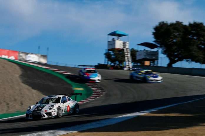 Roman De Angelis sped to his 10th Porsche GT3 Cup Challenge USA triumph of the year Sunday at WeatherTech Raceway Laguna Seca. (IMSA Photo)