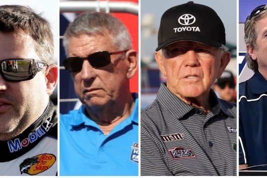 (From left) Tony Stewart, Waddell Wilson, Joe Gibbs and Bobby Labonte will be the grand marshals for Sunday's Bank of America ROVAL 400 at Charlotte Motor Speedway.