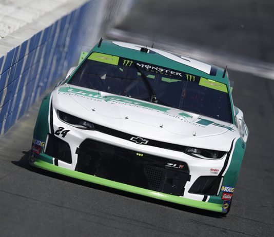 William Byron will lead the Monster Energy NASCAR Cup Series field to the green flag Sunday at Charlotte Motor Speedway. (HHP/Garry Eller Photo)