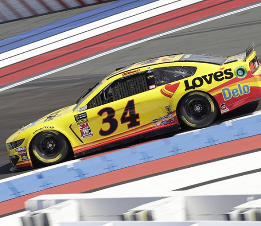 Michael McDowell had to pass a kidney stone before he could qualify on Friday at Charlotte Motor Speedway. (HHP/Harold Hinson Photo)