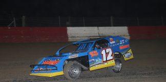Jason Hughes at Batesville Motor Speedway. (Mike Spieker photo)