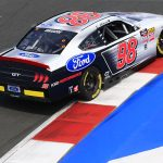 Chase Briscoe earned his first NASCAR Xfinity Series pole on Saturday afternoon on the Charlotte Motor Speedway ROVAL. (HHP/Jeff Fluharty Photo)