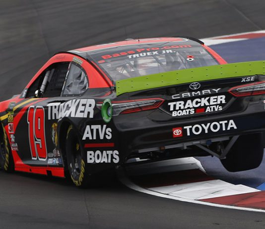 Martin Truex Jr. will start from the rear of the field for Sunday's Bank of America ROVAL 400 after an engine change in his No. 19 Toyota. (HHP/Ashley Dickerson Photo)