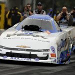 John Force powered to the top spot in Funny Car qualifying during the AAA Insurance NHRA Midwest Nationals. (Shawn Crose Photo)