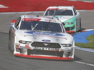 Chase Briscoe led a race-high 21 laps Saturday at Charlotte Motor Speedway. (HHP/Andrew Coppley Photo)
