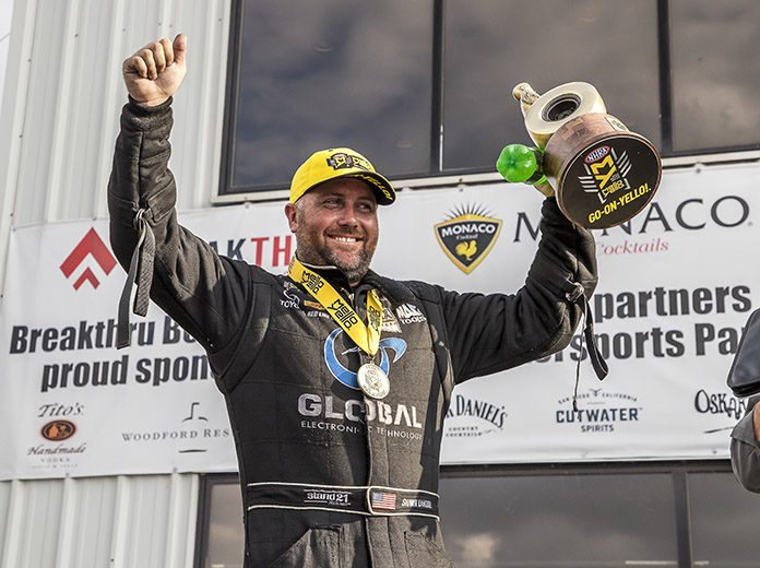 Shawn Langdon is riding a wave of momentum as the NHRA prepares to visit zMAX Dragway. (Brad Plant Photo)
