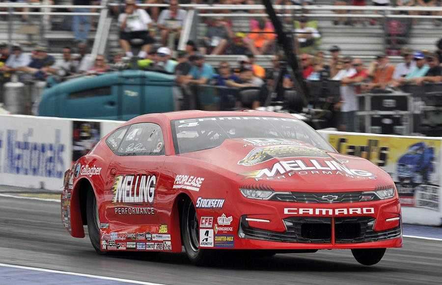 Erica Enders on her way to victory Sunday during the AAA Insurance NHRA Midwest Nationals at World Wide Technology Raceway on Sunday. (Shawn Crose Photo)