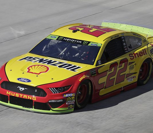 Joey Logano paced the opening practice of the day Friday at Dover Int'l Speedway. (HHP/Harold Hinson Photo)