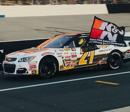 Sam Mayer claimed the NASCAR K&N Pro Series East title with a win Friday at Dover Int'l Speedway. (Dave Moulthrop Photo)