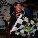 Chandler Smith won Saturday's rain-shortened Herr's Potato Chips 200 at Lucas Oil Raceway. (ARCA Photo)