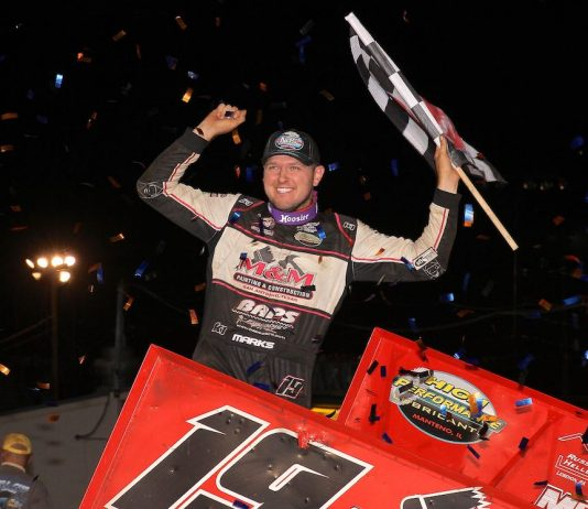 Brent Marks won the National Open at Williams Grove Speedway. (Dan Demarco photo)