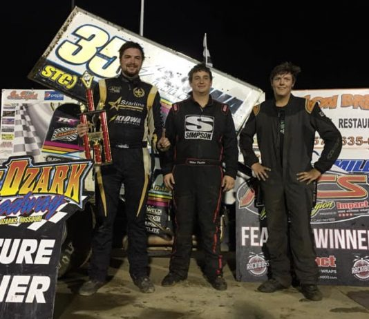 Jonathan Cornell (center) shares the podium with Miles Paulus and Ben Brown. (ASCS photo)