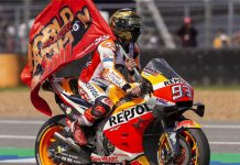 Marc Marquez captured his sixth MotoGP title Sunday in Thailand. (Honda Photo)