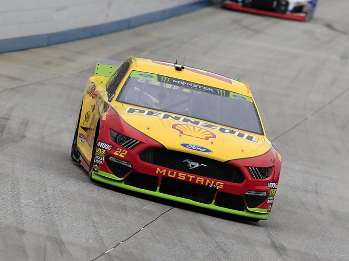 Joey Logano had a mechanical issue before the green flag waved that dropped him several laps off the pace in Sunday's Drydene 400. (NASCAR Photo)