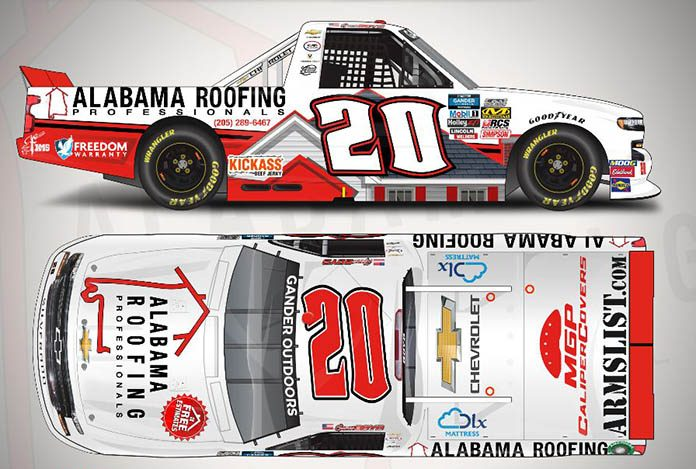 Alabama Roofing Professionals will sponsor Spencer Boyd this weekend at Talladega Superspeedway.