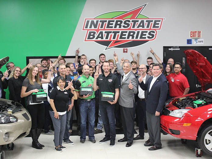 Kyle Busch helped the NASCAR Technical Institute and Interstate Batteries unveil the remodeled Electrical Applications classroom and lab.