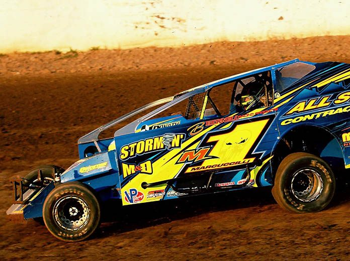 Dave Marcuccilli will be one of the top contenders when the DIRTcar 358 Modified Series invades Weedsport Speedway. (Mike Johnson Photo)
