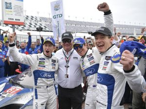 Ryan Briscoe, Scott Dixon and Richard Westbrook drove the Ford GT to victory in the 2018 Rolex 24. (IMSA Photo)
