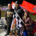 Sammy Swindell picked up a victory in NEMA midget competition on Saturday at Lee USA Speedway, extending his season winning streak to 49-straight years.