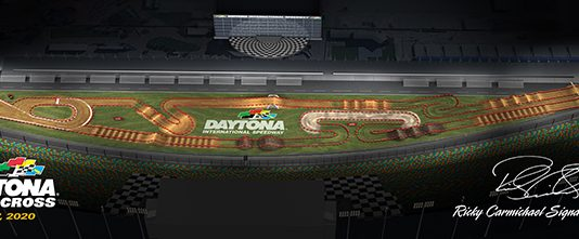 The 2020 Daytona Supercross course.