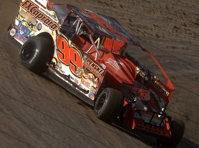 Larry Wight, shown here earlier this year, won Wednesday's DIRTcar 358 Modified Series feature at Weedsport Speedway. (Dave Dalesandro Photo)