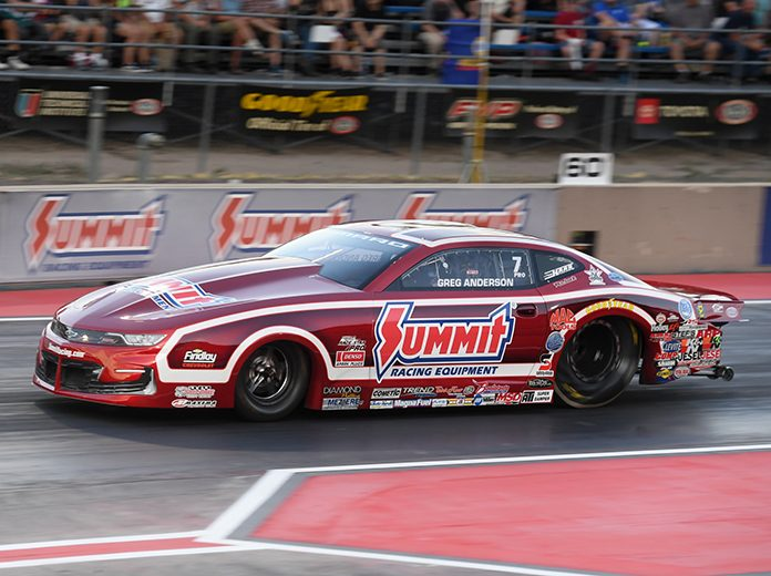 Greg Anderson needs something good to happen this weekend at zMAX Dragway. (NHRA Photo)
