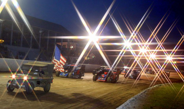 A field of modifieds prepare to go racing at Fonda Speedway this year. (Dave Dalesandro Photo)