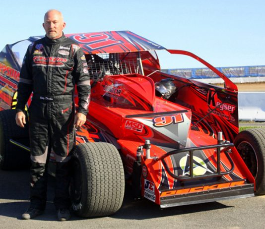 Billy Decker has earned the pole for the Billy Whittaker Cars 200 during Super DIRT Week at Oswego Speedway. (Dave Dalesandro Photo)