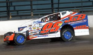 Jimmy Phelps will start from the pole in the Salute to the Troops 100 at Oswego Speedway. (Dave Dalesandro Photo)