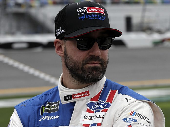 Paul Menard could hand the wheel of the No. 21 Ford to Matt Crafton during Sunday's NASCAR Cup Series race at Talladega Superspeedway. (HHP/Harold Hinson Photo)