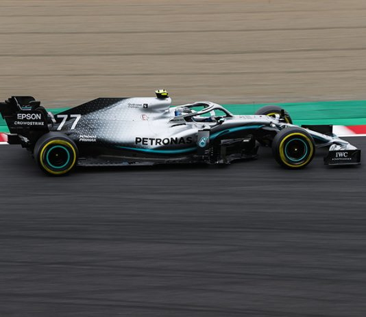 Valtteri Bottas was fastest in Formula One practice Friday for the Japanese Grand Prix. (Mercedes Photo)