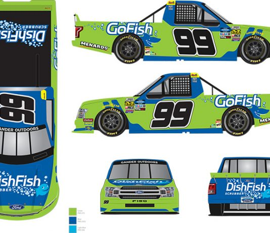 GoFish and DishFish have partnered with ThorSport Racing to sponsor Ben Rhodes.