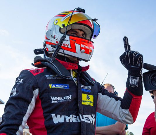 Felipe Nasr broke the track record in IMSA WeatherTech SportsCar Championship Petit Le Mans qualifying on Friday at Michelin Raceway Road Atlanta. (Sarah Weeks Photo)
