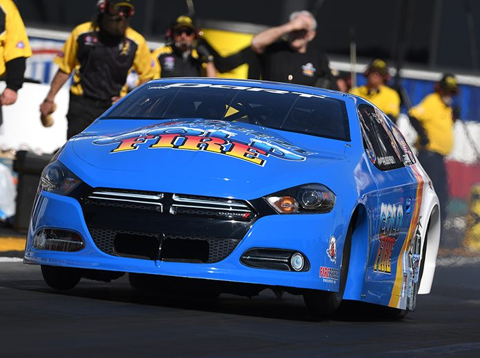 Alan Prusiensky, shown here earlier this year, was taken to a local hospital for evaluation following a crash Friday at zMAX Dragway. (NHRA Photo)