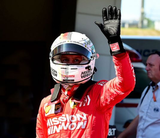 Sebastian Vettel will start from the pole during Sunday's Japanese Grand Prix. (Ferrari Photo)