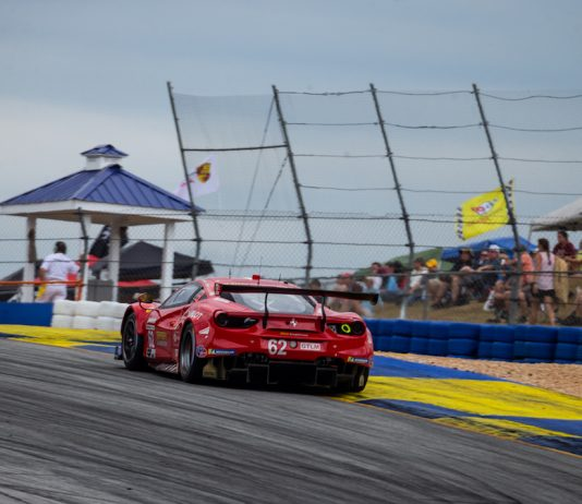 The Risi Ferrari handled by James Calado, Alessandro Pier Guidi and Daniel Serra. (Sarah Weeks photo)