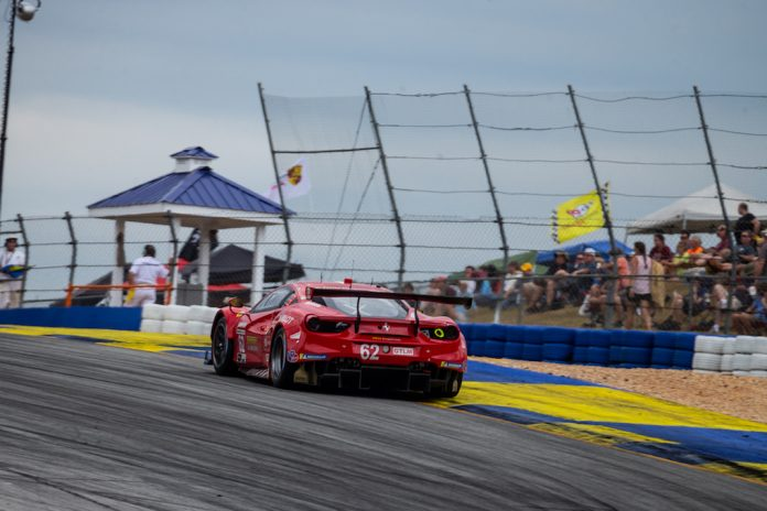 The Risi Ferrari handled by James Calado, Alessandro Pier Guidi and Daniel Serra. (Sarah Weeks photo)