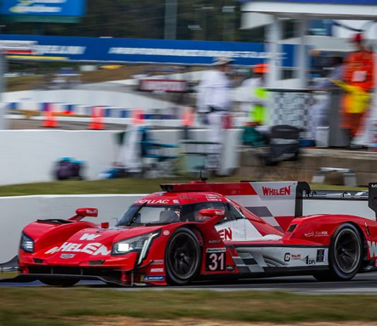 Pipo Derani, Felipe Nasr and Eric Curran collected the victory in Saturday's Petit Le Mans at Michelin Raceway Road Atlanta. (Sarah Weeks Photo)
