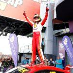 Scott McLaughlin celebrates after winning Sunday's Bathurst 1000 in Australia. (Supercars Photo)