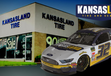 Kansasland is supporting Corey LaJoie and Go Fas Racing.