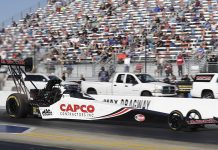 Steve Torrence continued to dominate zMAX Dragway with a win Monday in the NTK NHRA Carolina Nationals. (HHP/Harold Hinson Photo)