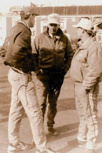 (From left) Dale, Lou and Dave Blaney. (NSSN Archives Photo)